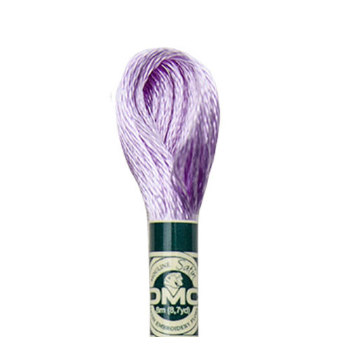 DMC 6 strand embroidery floss mouline 1008F Satin S211 Light Lavender