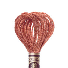 DMC 6 strand embroidery floss mouline 317W E301 Light Effects Copper Precious Metals