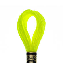 DMC 6 strand embroidery floss mouline 317W E980 Light Effects Neon Yellow Fluorescent